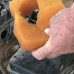 sponge filter removed