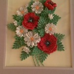Quilled poppies and daisies
