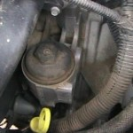 Oil filter cap...unscrews ccw