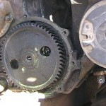 Timing gear drilled and tapped